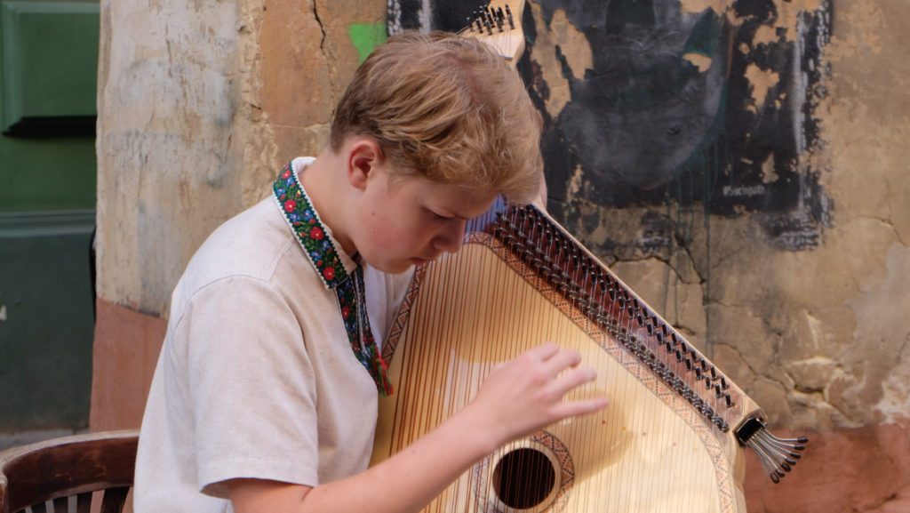 Das traditionelle ukrainische Instrument Bandura